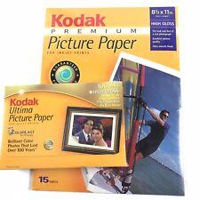 Kodak Premium Picture Paper Bundle Ink Jet 8.5 x 11 15 pc 4 x 6 100 pc Hi Gloss
