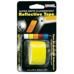 Incom Manufacturing 1in. X 24in. Lime Super Bright Fluorescent Reflective Tap...