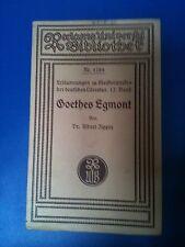 Dr.Albert Zipper: Goethes Egmont Reclam-Heft Erläuterung Meisterwerke 12.Band