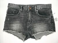 H & M women's acid wash cutoff denim shorts sz 4 black nwt $19.99 retail