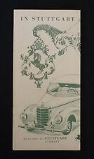Vintage 1957 Stuttgart, Germany Tourism Brochure - Mercedes-Benz Museum