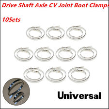 10 Sets Stainless Steel Universal Drive Shaft Axle CV Joint Boot Clamps Kits New