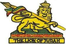 IRON ON/SEW ON - LION OF JUDAH - WOVEN PATCH RASTA AFRICA JAMAICA REGGAE
