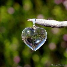 John of God Blessed Clear Quartz Casa Crystal Healing Heart Pendant