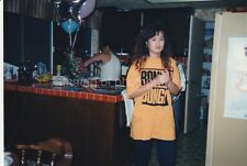KITCHEN MOMENT Girl Woman FOUND PHOTO Color FREE SHIPPING Original Snapshot 89 5