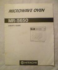 HITACHI FORNO A MICROONDE MR-5650 USER'S GUIDE istruzioni