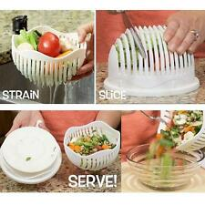 60 Second Salad Maker Bowl Fruit Vegetable Easy Salad Cutter Bowl Quick Washer
