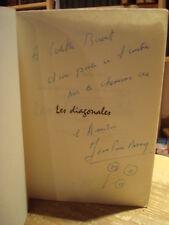 Jean-Pierre ROSNAY Les Diagonales poèmes Gallimard 1959  Envoi