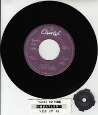 """BEATLES  Ticket To Ride & Yes It Is  RARE! 45 rpm 7"""" VINYL RECORD BRAND NEW"""