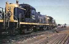 Vintage Erie Lackawanna RS3 Diesel, Out of Car Wash 1964 Railroad Train Postcard
