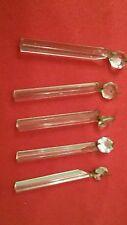 Lampara araña vintage repuestos de cristal(lote de 5 piezas)