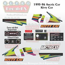 1995-96 Arctic Cat Kitty Cat Graphics Decal Reproduction Full Kit 20 Pieces