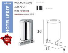 INDA A05670CR Dispenser Sapone Hotellerie a Parete, CROMO LUCIDO - 1/2 LITRO