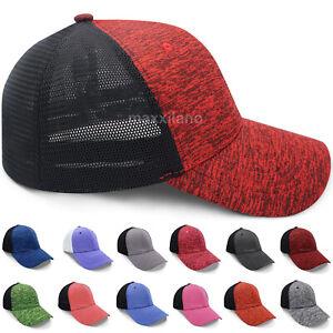 Baseball Cap Mesh FlexFit Trucker Hat Polo Style Caps for Men and Women L/XL S/M