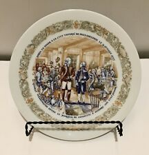 D'Arceau Limoges Lafayette Legacy Plate 1974 Meets Washington Revolutionary War
