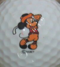 (1) VINTAGE MICKEY MOUSE DISNEY LOGO GOLF BALL (ORANGE PANTS & RED TOP)