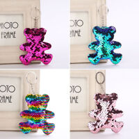 Sequins Keychain Car Bag Accessories Bear Key Ring Handbag Pendant Holder