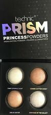 TECHNIC PRISM PRINCESS POWDERS HIGHLIGHTING POWDER 4 SHADES HIGHLY PIGMENTED