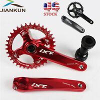 US MTB Bike Crankset BB 104bcd 32-42t Narrow Wide Single Chainring 170mm Crank