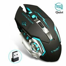 Wireless Mouse Rechargeable Gaming Mouse DPI Adjustable Changing Backlight Mice