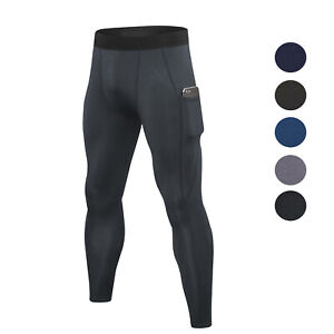Men's Jogger Running Pants with Pockets Workout Sweatpants Fleece Tights Workout
