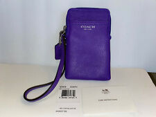 NWT COACH LEGACY Leather UNIVERSAL CASE N/S 62808 ~RARE ULTRAVIOLET!!