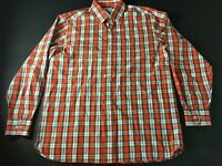 Southern Tide Mens Colorful Plaid Front Pocket Button Front Shirt Size Large