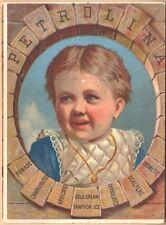 Victorian Trade Card-Petrolina-Petroleum Jelly-Binghamton, NY-Toronto, Canada