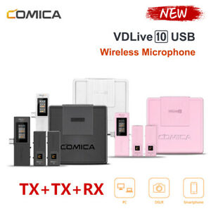 Comica VDLive10 Dual Channel Wireless USB Microphone System for PC Smartphone