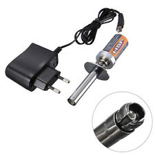 Rechargeable Glow Plug Engine Starter Igniter + EU Charger For HSP RC Nitro Car