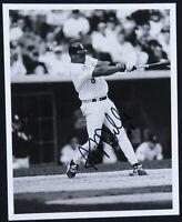 Albert Belle Chicago White Sox Baseball Autographed Signed 8x10 B&W Photo PSA