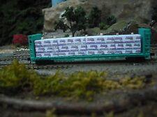 N Scale Load for  47 ft Bulkhead Flat  Car