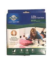 PetSafe Cat Door, 2-Way Lockable, For Interior Doors, Up To 15 Lb , Small.