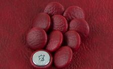 10 Upholstery buttons in Antique Oxblood Faux leather 20mm