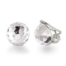 Ohrclips aus 925 Sterling Silber mit 12mm großen Kristallen von Swarovski®