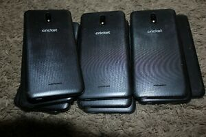 (Lot of 13) Cricket Radiant Core Black U304AA Cell Phones -Cracked