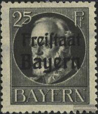 Bayern 158A postfrisch 1919 König Ludwig mit Aufdruck