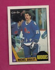 RARE 1987-88 OPC NORDIQUES MICHEL GOULET BLANK BACK BOX BOTTOM CARD (INV#6346)