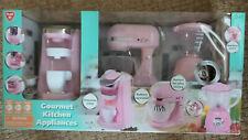 Playgo Pink Gourmet Kitchen Appliances 3 pc set Coffee Maker / Mixer / Blender