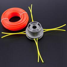 Tête de débroussailleuse universelle a gazon fil 2.4mm montage facile+L20m corde