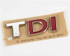 LOGO VW TDI GOLF POLO PASSAT TOURAN TIGUAN TOUAREG BADGE ORIGINAL 3G0853675NJZQ
