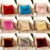 Plush Furry Suede Cushion Cover Soft Throw Pillow Cases Home Bed Room Sofa Decor