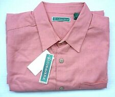 New Cubavera Men's Lg Linen Blend Button-Up Short Sleeve Shirt Color Lantana