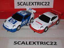 2 Porsche 911 GT3 SCALEXTRIC COMPACT 1:43
