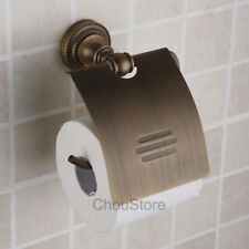 Bathroom Toilet Roll Paper Wall Mounted Holder Tissue Rack Shelf Antique Brass