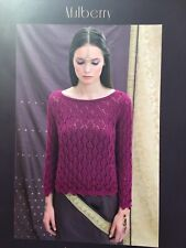 """Knitting pattern book """"Mulberry"""" by Louisa Harding.  Includes 5 ladies patterns"""