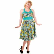 Retro Polyester Plus Size Dresses for Women