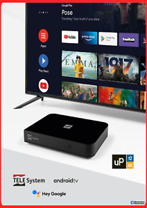 Decoder Telesystem UP T2 4K tv box Android 10 Netflix Dazn smart ricevitore wifi