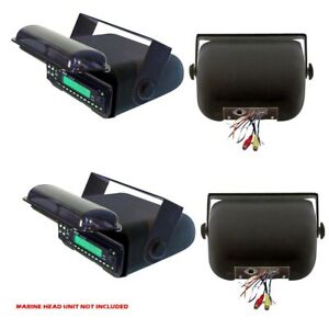 Pyle PLMRCB3 Waterproof Marine CD Player Receiver Radio Housing Cover (2 Pack)