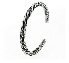 Men's Vine 925 Sterling Silver Cuff bangle bracelet
